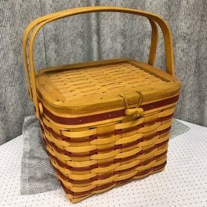 Longaberger Weekender Basket with stacking inserts